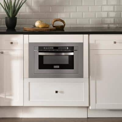 ZLINE 24 in. 1.2 cu. ft. Microwave Drawer with 3 in. Trim Kit in Stainless Steel
