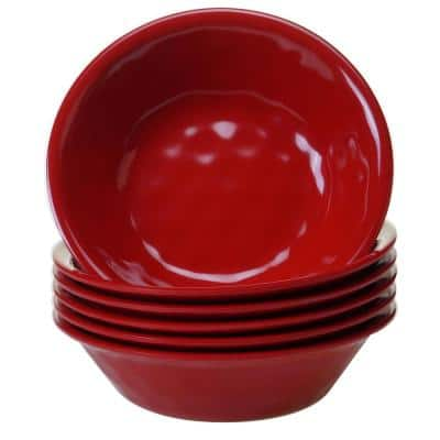 6-Piece Red Bowl Set