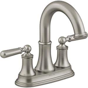 Capilano 4 in. Centerset 2-Handle Bathroom Faucet in Vibrant Brushed Nickel