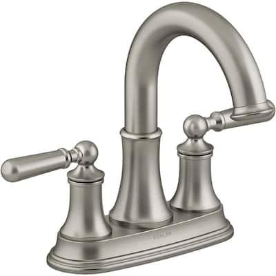 Capilano 4 in. Centerset 2-Handle Bathroom Faucet in Vibrant Brushed Nickel