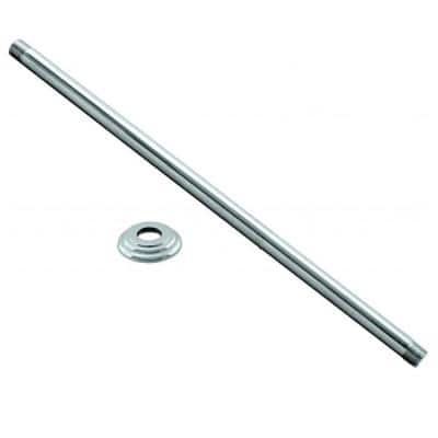 36 in. Ceiling-Mount Shower Arm and Flange in Polished Chrome