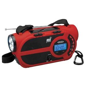AM/FM Weather Alert Radio/Flashlight with 4-WAY Power