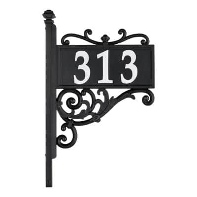 Nite Bright Rectangle Scroll Reflective Address Post Sign