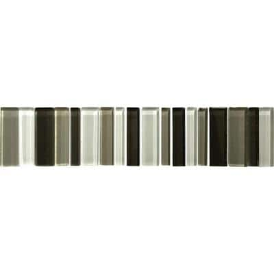 Delray Ice 3 in. x 12 in. x 8 mm Glass Mesh-Mounted Mosaic Tile