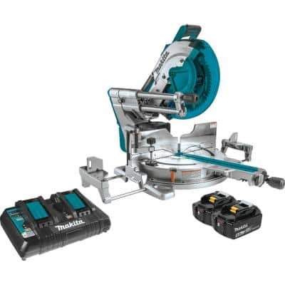 18-Volt X2 LXT Lithium-Ion (36-Volt) 12 in. Brushless Dual-Bevel Sliding Compound Miter Saw Kit AWS Capable 5.0 Ah