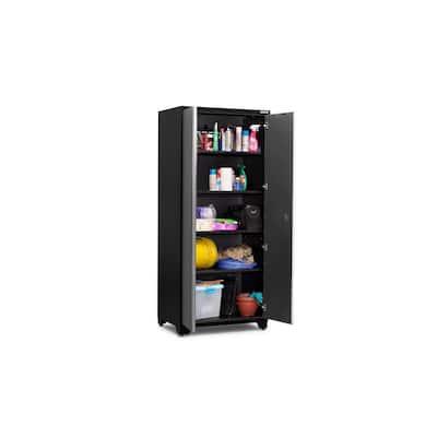 Pro Series Steel Freestanding Garage Cabinet in Charcoal Gray (36 in. W x 85 in. H x 24 in. D)