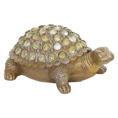 Clear Beaded Turtle Garden Statue
