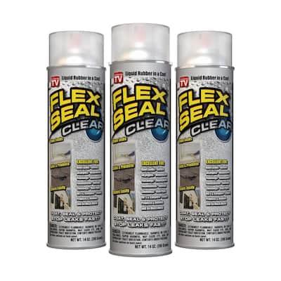 Flex Seal Clear 14 oz. Aerosol Liquid Rubber Sealant Coating (3-Pack)