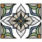 Blue Alden Stained Glass Decal (Set of 2)