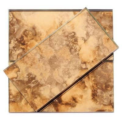 Lana Gold 3 in. x 6 in. Antique Glass Wall Tile (4 sq. ft. / Case)