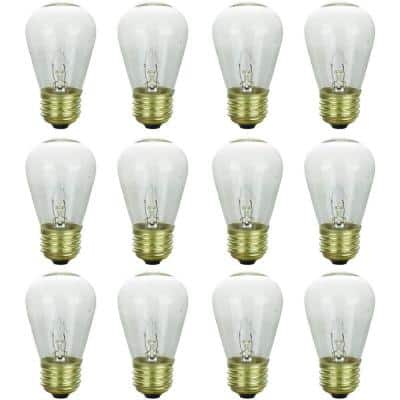 11-Watt S14 Dimmable Clear Party Bulbs for String Lights Mercury Free Incandescent Light Bulb (12-Pack)