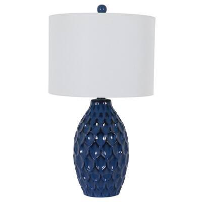 Tamara 24.5 in. Indigo Indoor Table Lamp
