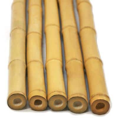 1 in. x 8 ft. Natural Bamboo Poles (25-Pack/Bundled)