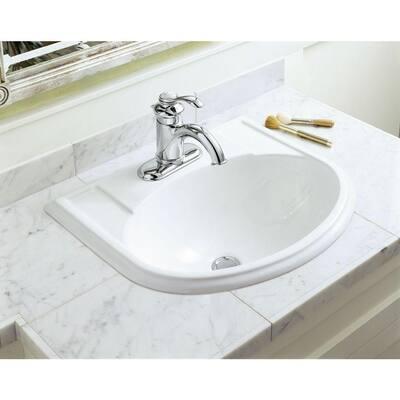 Fairfax Single Hole Single-Handle Water-Saving Bathroom Faucet in Polished Chrome