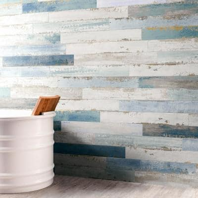 Cypress Multi-Color 4 in. x 32 in. x 9 mm Matte Wood Look Ceramic Wall Tile (12-Piece/10.91 sq. ft./Case)