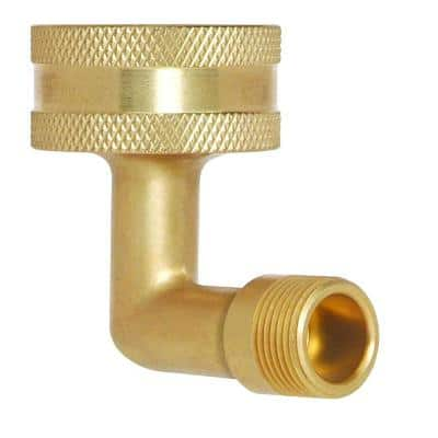 3/4 in. Female Hose Thread Swivel Nut x 1/2 in. O.D. Compression Dishwasher Elbow with Hose Washer