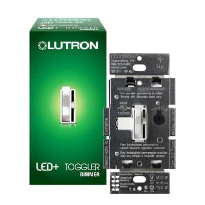 Single-Pole or 3-Way Toggler LED+ Dimmer Switch for Dimmable LED, Halogen and Incandescent Bulbs, White
