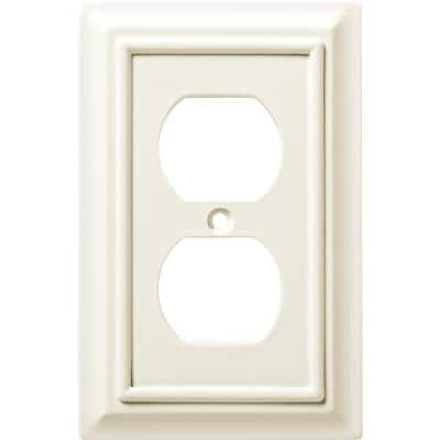 White 1-Gang Duplex Outlet Wall Plate (4-Pack)