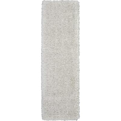 Ultra Plush Shag Light Grey 2 ft. x 8 ft. Shag Contemporary Runner Rug