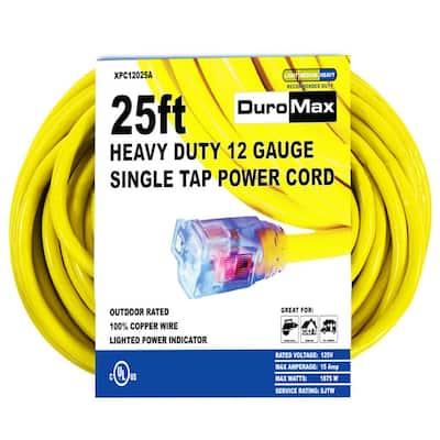 25 ft. 12/3-Gauge Single Tap Extension Power Cord