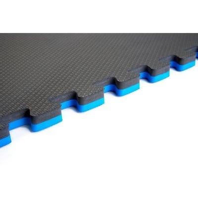 Blue/Black 24 in. x 24 in. EVA Foam Multi-Purpose Reversible Interlocking Tile (40-Tile)