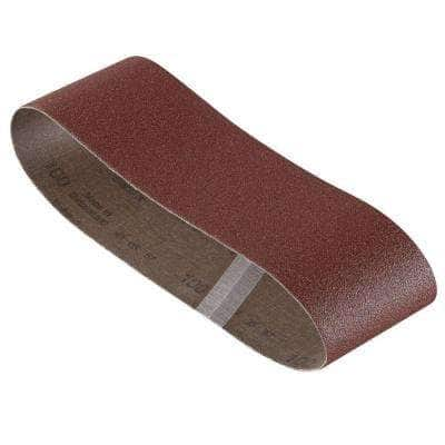 3 in. x 21 in. Red 60/80/100 Assorted Grits Sanding Belt Pack (3-Pack)