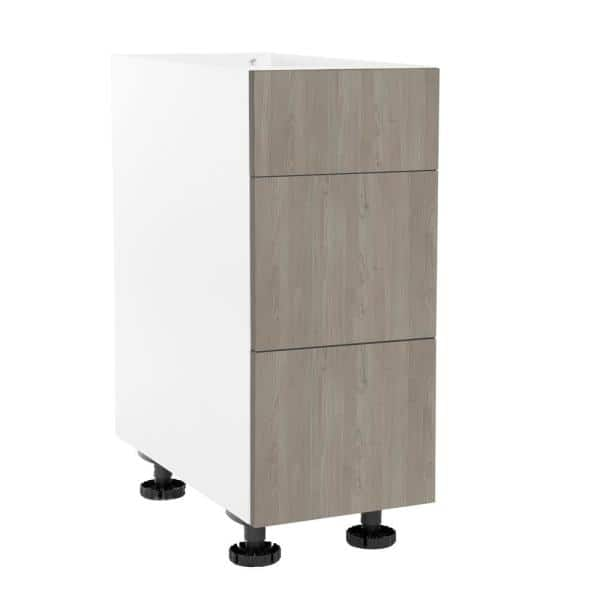 Cambridge Ready To Assemble Threespine 18 In X 34 5 In X 24 In Stock Drawer Base Cabinet In Grey Nordic Sa Bud2p18 Gn The Home Depot