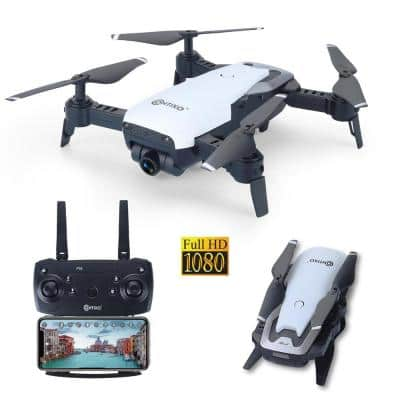 FPV Drone with Camera 1080P HD RC Quadcopter 6 Axis Gyro, Optical Flow, Headless Mode 2.4G Drone, Batteries Includes