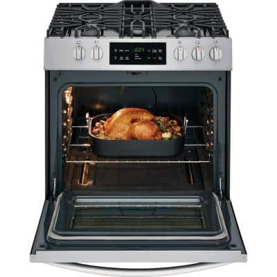 30 in. 5.0 cu. ft. Single Oven Gas Range with Self-Cleaning Oven in Stainless Steel