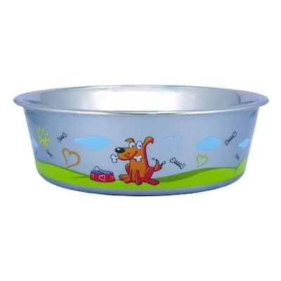 Pets 0.42 Gal. Multi-Print Stainless Steel Dog Bowl (Set of 4)