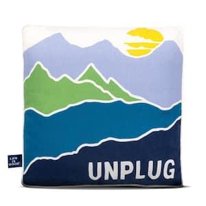 Unplug Outdoor Throw Pillow