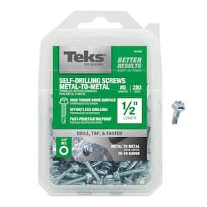 #8 x 1/2 in. External Hex Flange Hex-Head Self-Drilling Screws (280-Pack)