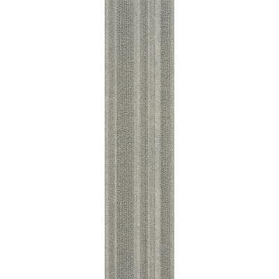 Peel and Stick Dove Barcode Planks 9 in. x 36 in. Commercial/Residential Carpet (16-tile / case)