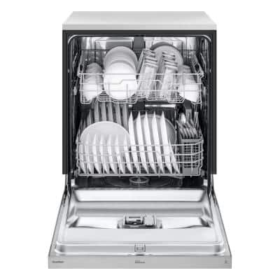 24 in. in Stainless Steel Front Control Dishwasher with NeveRust Stainless Steel Tub and Dynamic Dry