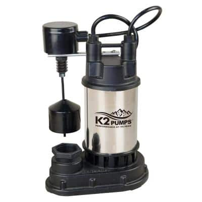 1/2 HP Stainless Steel Sump Pump with Direct-in Vertical Switch