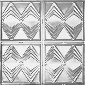 2 ft. x 2 ft. Lay-in Suspended Grid Tin Ceiling Tile in Clear Lacquer (24 sq. ft. / case)