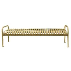 6 ft. Tan Premier Backless Bench