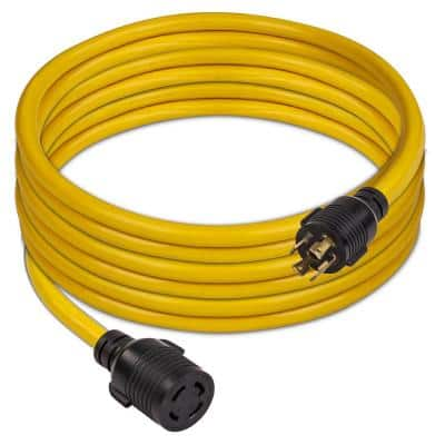 25 ft. 30 Amp 125-Volt/250-Volt L14-30P to L14-30R Generator Power Extension Cord with Storage Strap