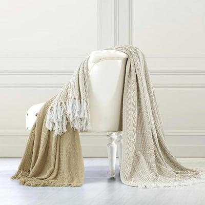 Cafe Au Lait Throw Blanket (Set of 2)