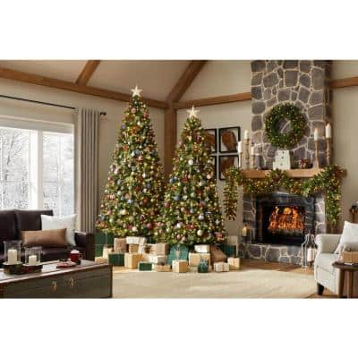 7.5 ft Manchester White Spruce LED Pre-Lit Artificial Christmas Tree with 500 SureBright Color Changing Mini Lights
