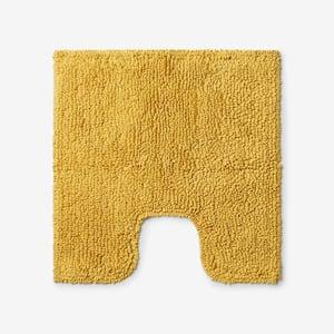 Company Cotton Chunky Loop Deep Yellow 24 in. Contour Bath Rug
