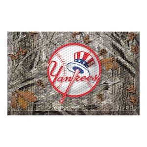 MLB - New York Yankees 19 in. x 30 in. Outdoor Camo Scraper Mat Door Mat