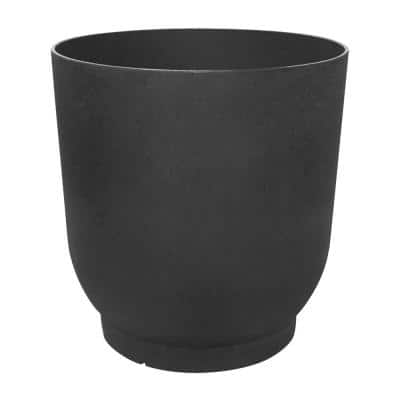 20 in. x 21 in. Slate Rubber Florencia Planter with Water Reservoir