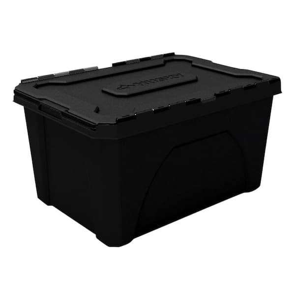 Husky 18 Gal Flip Top Storage Bin, Home Depot Storage Baskets