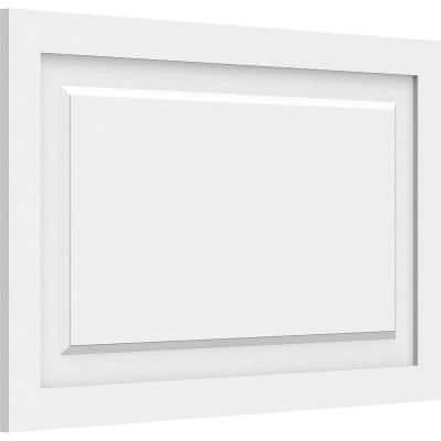 5/8 in. x 2-2/3 ft. x 1-1/2 ft. Harrison Raised Panel White PVC Decorative Wall Panel