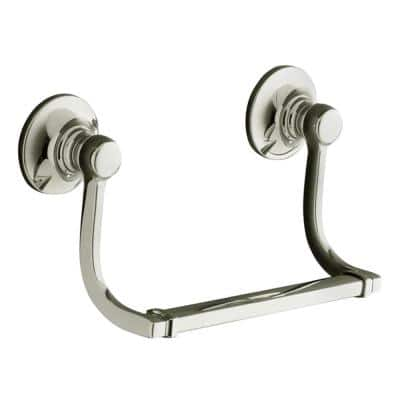Bancroft 9.25 in. Hand Towel Holder in Vibrant Polished Nickel