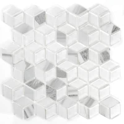 Abolos Monet Carrara White Hexagon Mosaic 2 In X 2 In Porcelain Wall Tile 26 Sq Ft Case Hmdmnthex Ca P The Home Depot