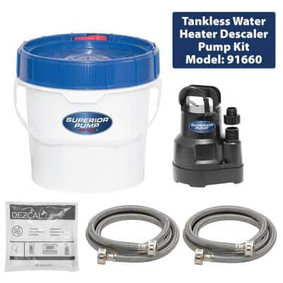 Tankless Water Heater Descaler Pump Kit
