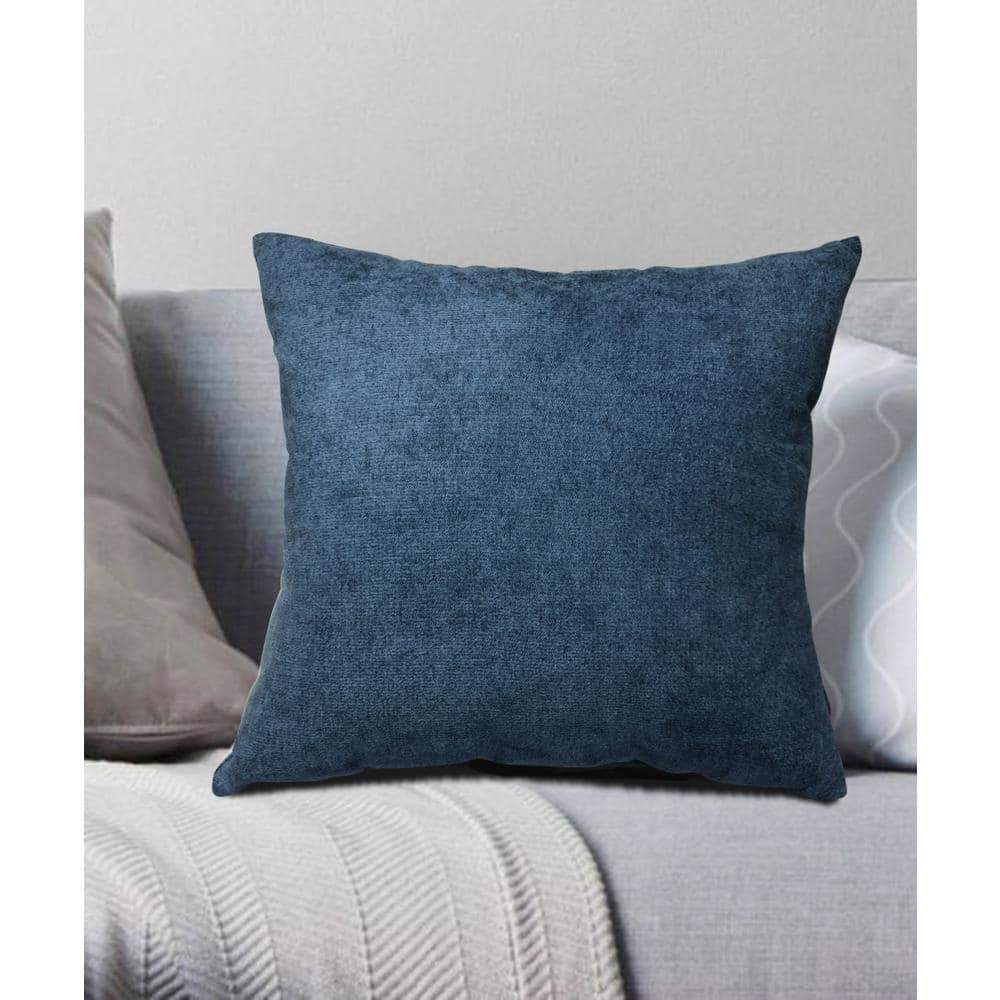 """17/"""" x 17/"""" Chenille Waves Luxury Heavy Plain Cushions and Covers 43 x 43cm"""