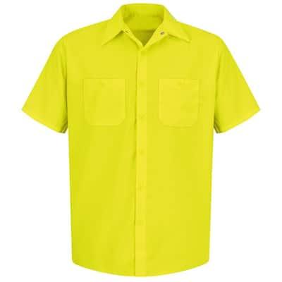 Men's Size 3XL Fluorescent YellowithGreen Enhanced Visibility Work Shirt